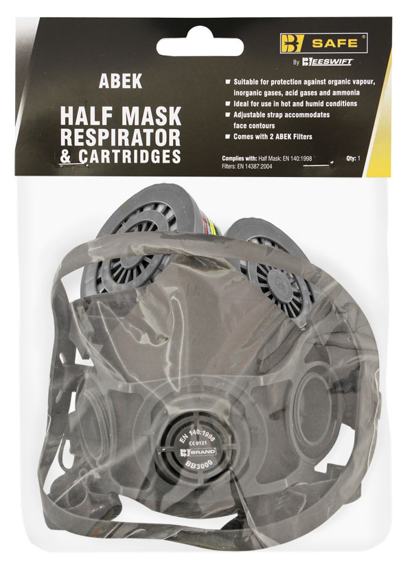 HALF MASK RESPIRATOR AND ABEK CARTRIDGES - BS038