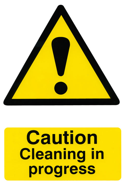 CAUTION CLEANING IN PROGRESS SIGN - BSS1114