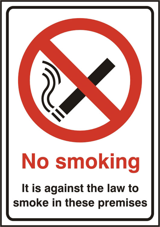 NO SMOKING ITS AGAINST THE LAW SIGN - BSS11854