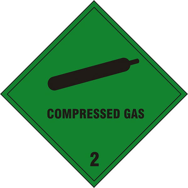 COMPRESSED GAS SIGN - BSS1869S