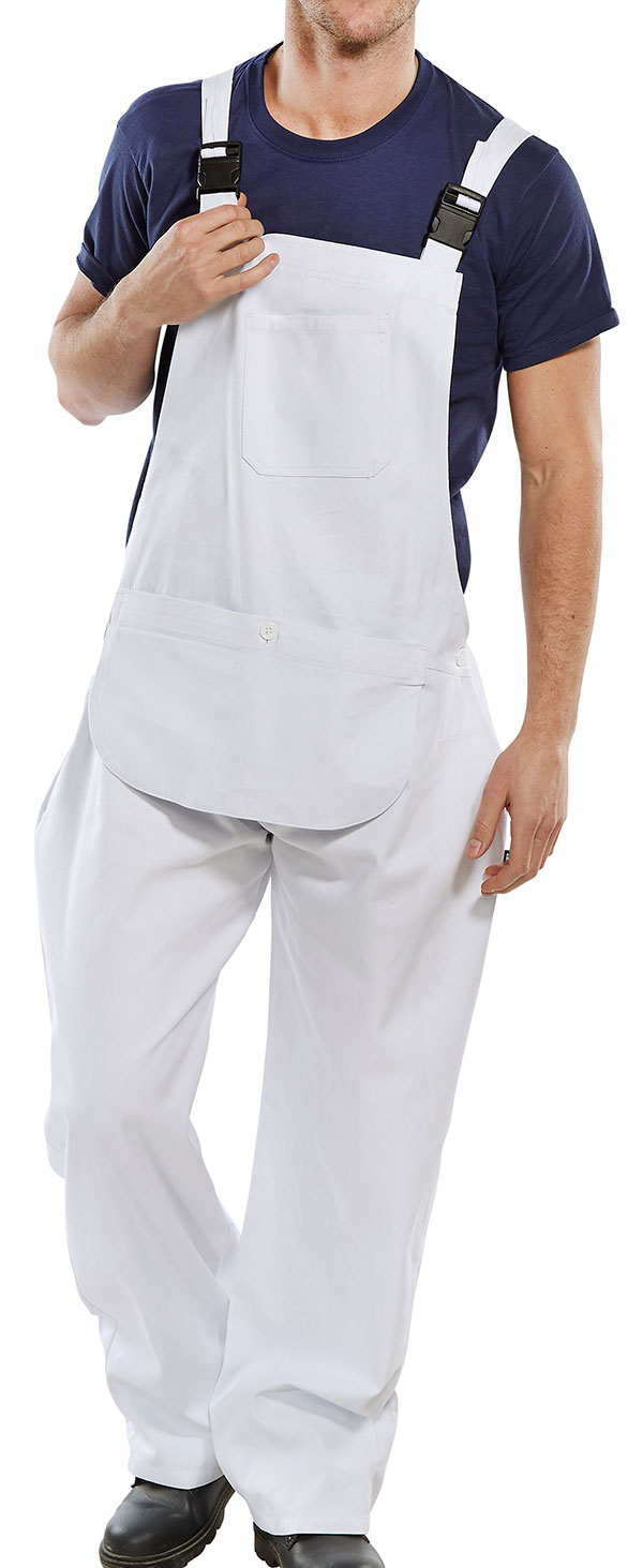 COTTON DRILL BIB AND BRACE - CDBBW