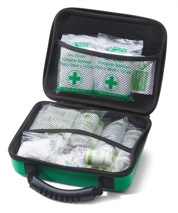 HSE 1-10 PERSON FIRST AID KIT IN MEDIUM FEVA CASE - CM0262
