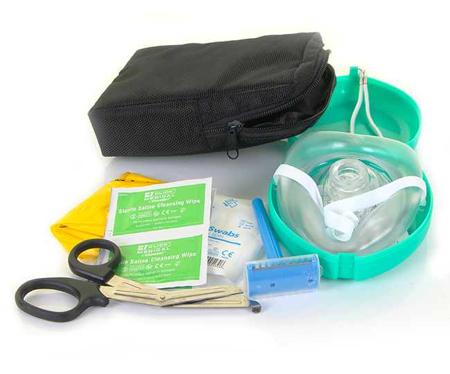 AED RESCUE READY/PREP KIT IN DELUXE BAG - CM1113