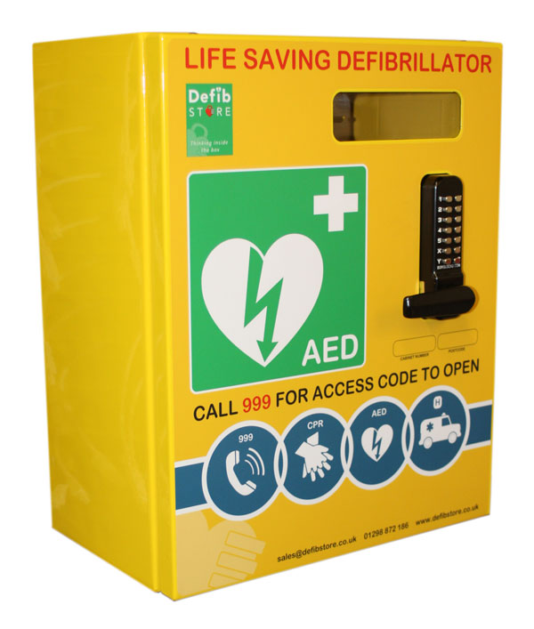 DEFIBRILLATOR STAINLESS STEEL CABINET WITH LOCK & ELECTRICS - CM1211