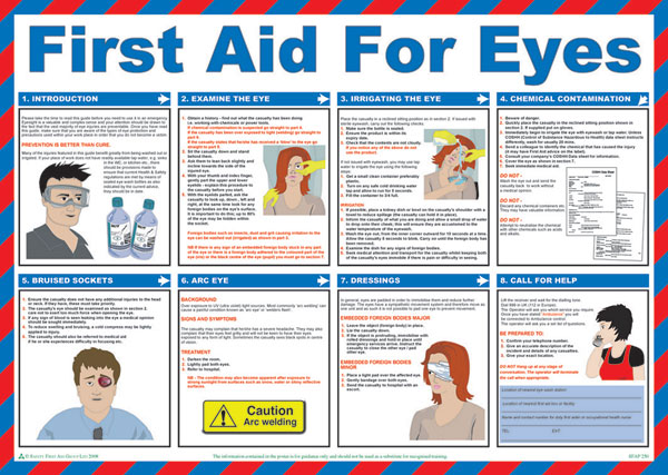 FIRST AID FOR EYES POSTER - CM1303