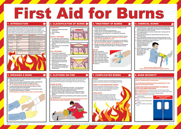 FIRST AID FOR BURNS POSTER - CM1312
