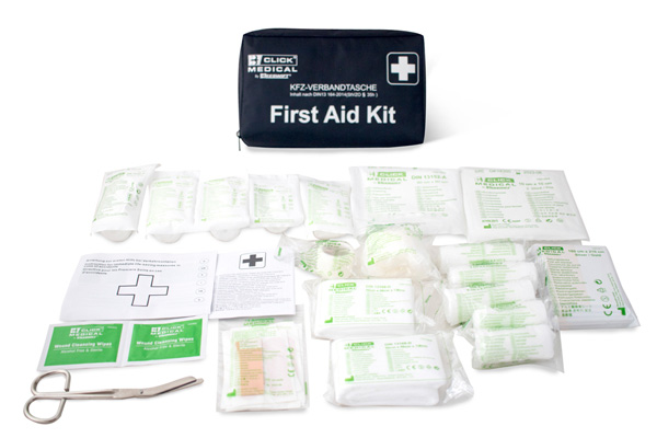 GERMAN VEHICLE FIRST AID KIT DIN 13164 IN TRAVEL BAG - CM1828