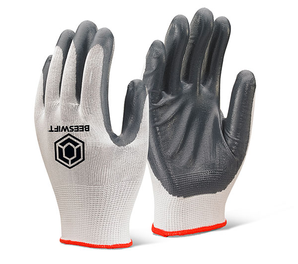 NITRILE PALM COATED POLYESTER GLOVES - EC7