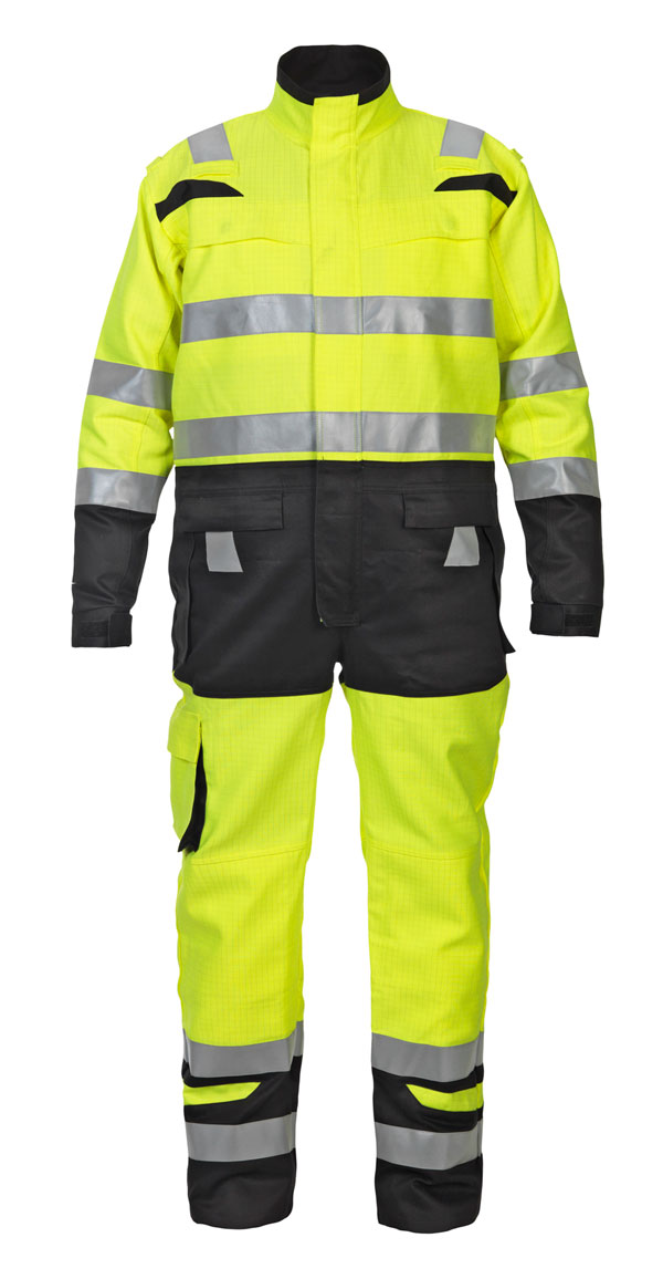 HOVE HIGH VISIBILITY TWO TONE COVERALL - HYD048471SYBL